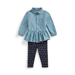 Chambray Top  Legging Set