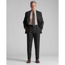 Plaid Basket-Weave Suit Jacket