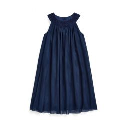 Hand-Smocked Tulle Dress