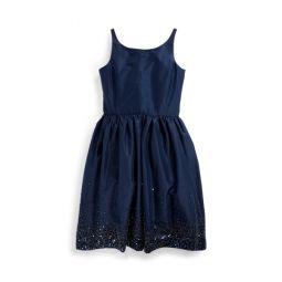 Beaded Silk Taffeta Dress
