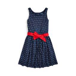 Anchor-Print Twill Dress