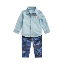 Chambray Shirt  Camo Pant Set