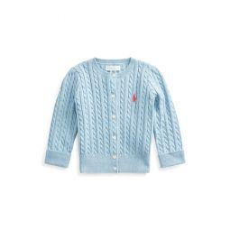 Mini-Cable Cotton Cardigan