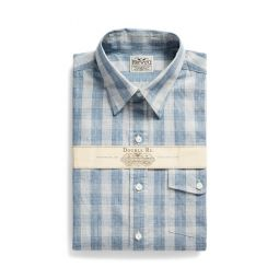 Slim Fit Indigo Checked Shirt