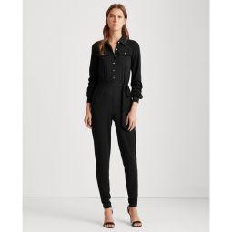 Buttoned Jersey Jumpsuit