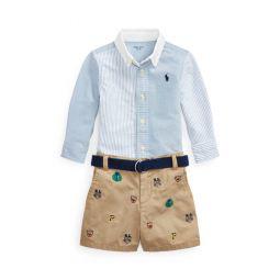 Shirt, Belt  Short Set