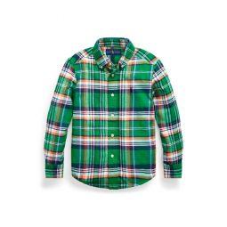 Plaid Cotton-Linen Shirt