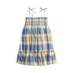 Smocked Cotton Madras Dress