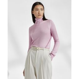 Lacquered Turtleneck Sweater