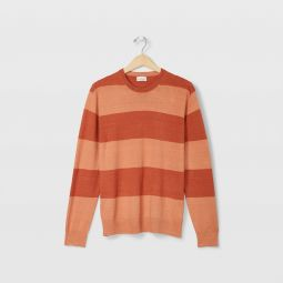 Striped Linen Crew Sweater