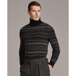 Fair Isle Cashmere Turtleneck Sweater