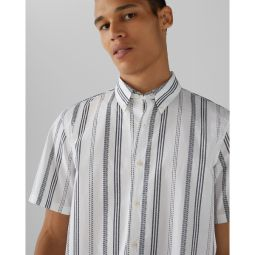 Short Sleeve Loom Striped Shirt