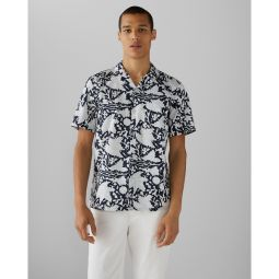 Camp Collar Vine Print Shirt