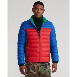 Color-Blocked Packable Jacket