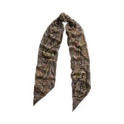 Embellished Paisley Silk Scarf