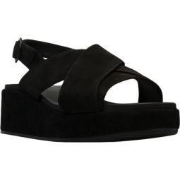 Misia X Strap Platform Slingback Sandal