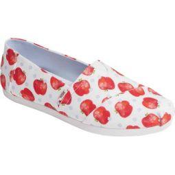 Alpargata Watercolor Apple Print Slip On Shoe