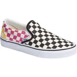Slip On Glitter Checkerboard Canvas Sneaker
