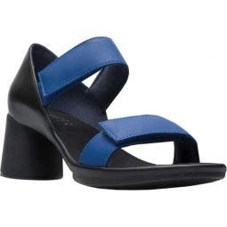 Upright Two Strap Heeled Sandal