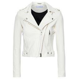 White Luiga leather biker jacket