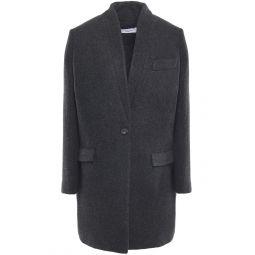 Charcoal Lennya wool-blend coat