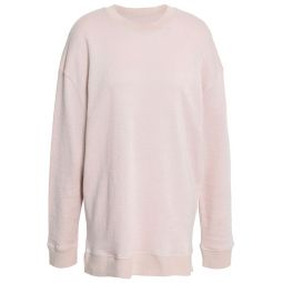 Pastel pink Aloba French linen and cotton-blend terry sweatshirt