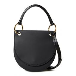 Black Two-tone leather shoulder bag