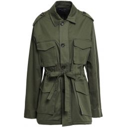 Army green Kamille stretch-cotton gabardine jacket