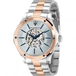 Mens Circuito Stainless Steel Silver-tone Dial