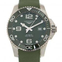 Men's Hydroconquest Rubber Green Dial