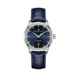 Men's Jazzmaster Calf Leather Blue Dial Watch