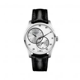 Men's Jazzmaster Regulator Leather White Dial Watch