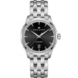 Men's Jazzmaster Stainless Steel Black Dial Watch