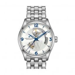 Men's Jazzmaster Stainless Steel Silver (Cut-Out) Dial Watch