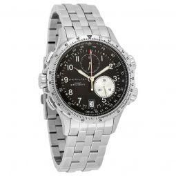 Men's Khaki Chronograph Stainless Steel Black Dial