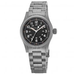 Men's Khaki Field Stainless Steel Black Dial Watch