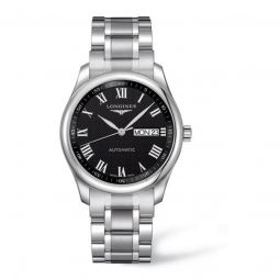Men's Master Collection Stainless Steel Black Dial Watch