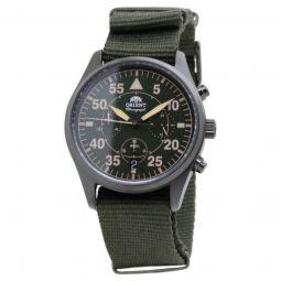 Men's Pilot Nylon Green Dial Watch