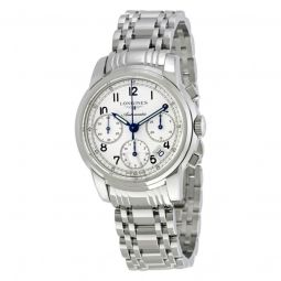 Men's Saint-Imier Collection Chronograph Stainless Steel Silver Dial Watch