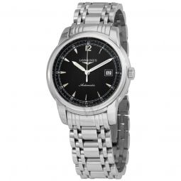 Men's Saint-Imier Collection Stainless Steel Black Dial Watch