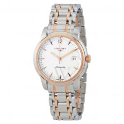 Men's Saint-Imier Stainless Steel and 18kt Rose Gold Silver Dial
