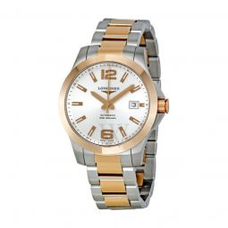 Men's Sport Stainless Steel with 18kt Rose Gold (Capped) Cente White Mother of Pearl Dial Watch