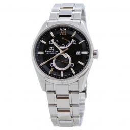 Men's Star Stainless Steel Black Dial Watch