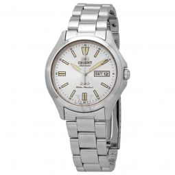Men's TriStar Stainless Steel Silver Dial Watch