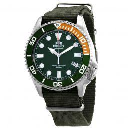 Men's Triton Nylon Green Dial Watch
