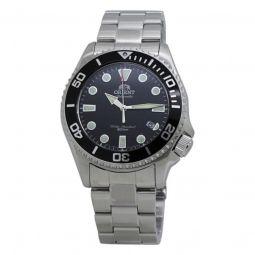 Men's Triton Stainless Steel Black Dial Watch