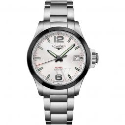 Men's V.H.P Conquest Stainless Steel Silver Dial Watch