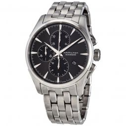 Mens Jazzmaster Chronograph Stainless Steel Black Dial