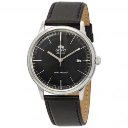 Men's 2nd Generation Bambino Leather Black Dial Watch