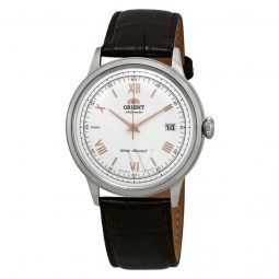 Men's 2nd Generation Bambino Leather White Dial Watch